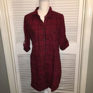 Victoria's Secret Sleep Shirt Night Gown Red Plaid